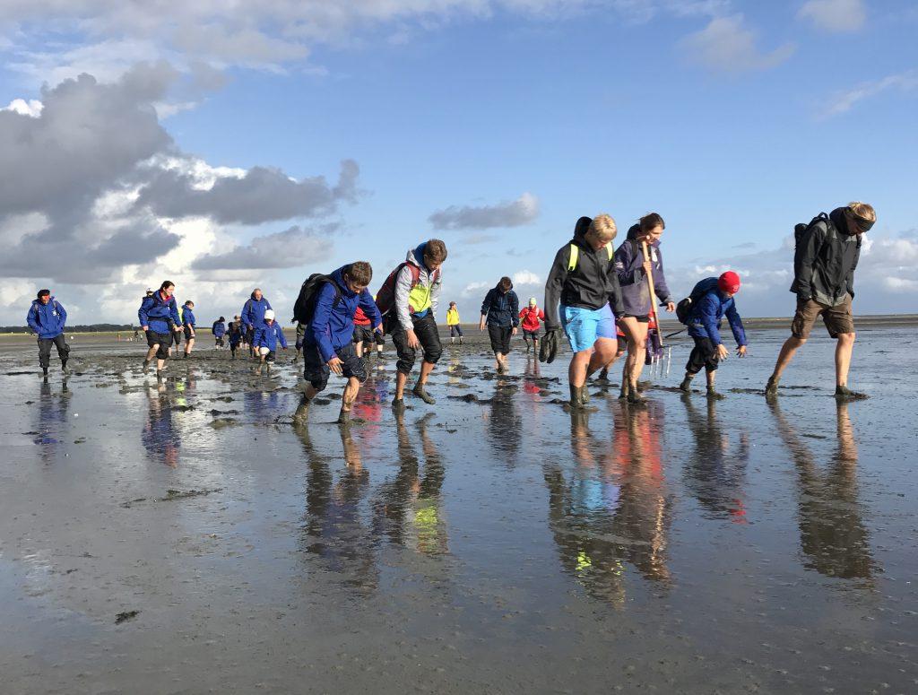 Wattwanderung mit der Wasserwacht und JRK Jugendgruppe
