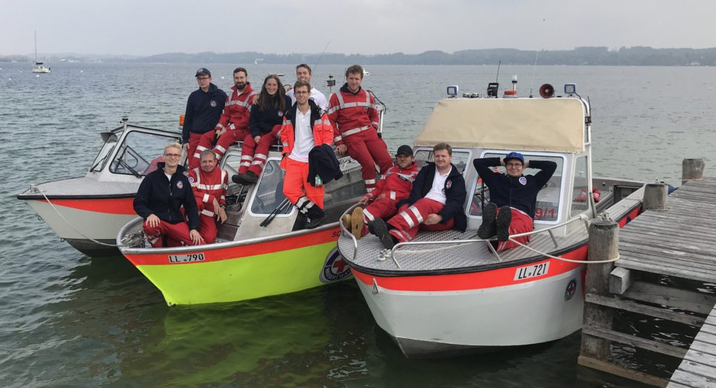 Die neuen Bootsführer der Wasserwacht Utting am Ammersee