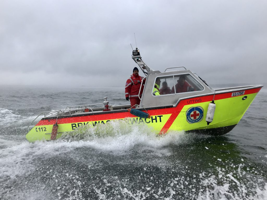 Einsatzboot der Wasserwacht Utting