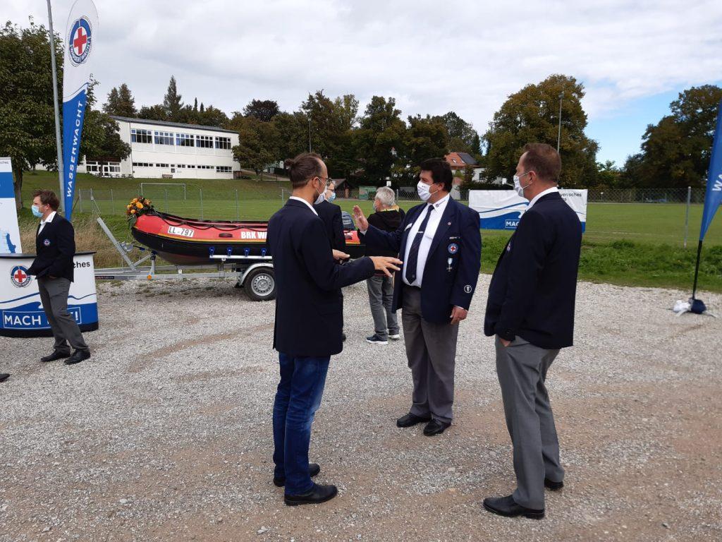 Andreas Lehner und Markus Leiter im Gespräch über das neue Rettungsboot
